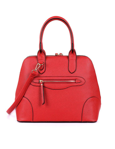Julie Women's Dome Satchel Bag Red