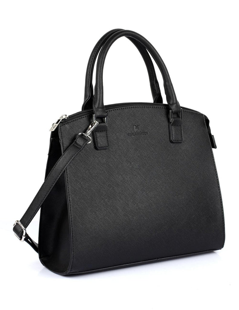 Grace Women's Satchel Bag with Strap Black