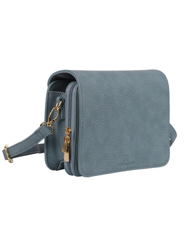 Madison Women's Crossbody Organizer Bag Denim