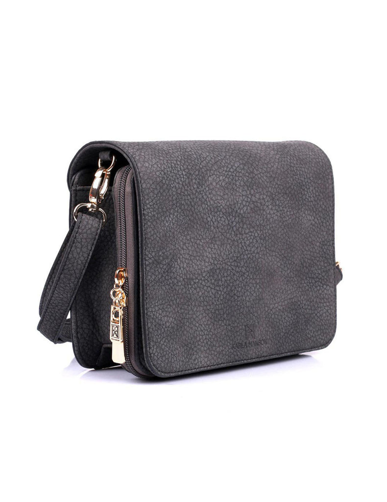 Linda Women's Crossbody Organizer Bag Black Default Side - karlahanson.com