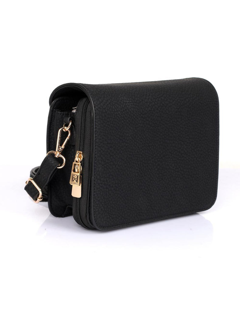 Madison Women's Crossbody Organizer Bag Black