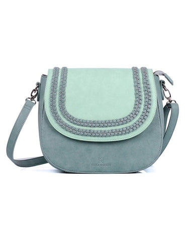 Shere Women's Crossbody Saddle Bag Aqua Marine
