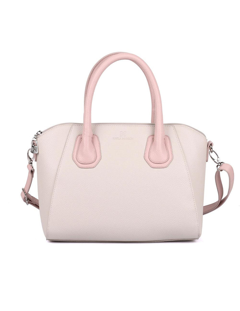 Grace Women's Satchel Bag with Strap Pink Tone