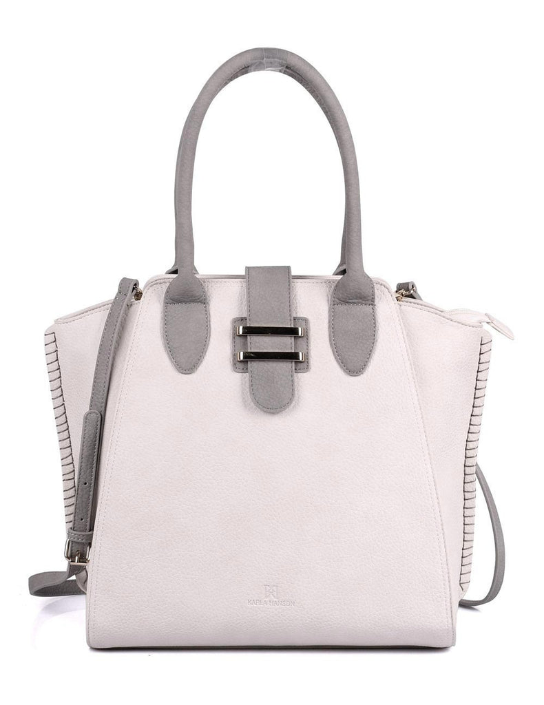 Shere Women's Tote Shoulder Bag Ivory Grey