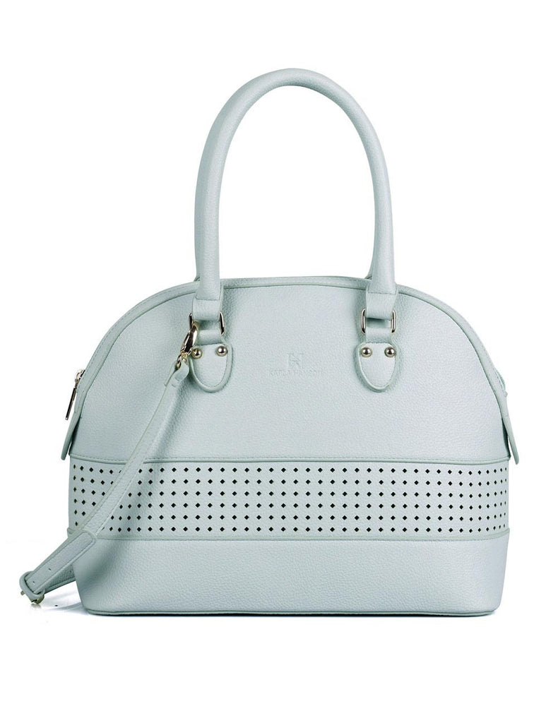 Shere Women's Laser Cut Satchel Bag Mint