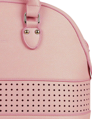 Shere Women's Laser Cut Satchel Bag Pink