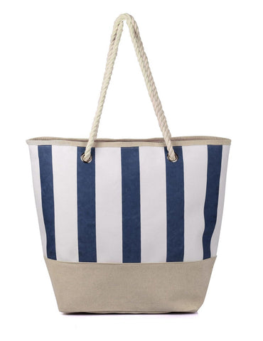 Women's Summer Nautical Stripe Bag Navy
