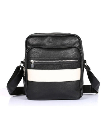 Men's Professional & Travel Flight Bag Black White Stripe