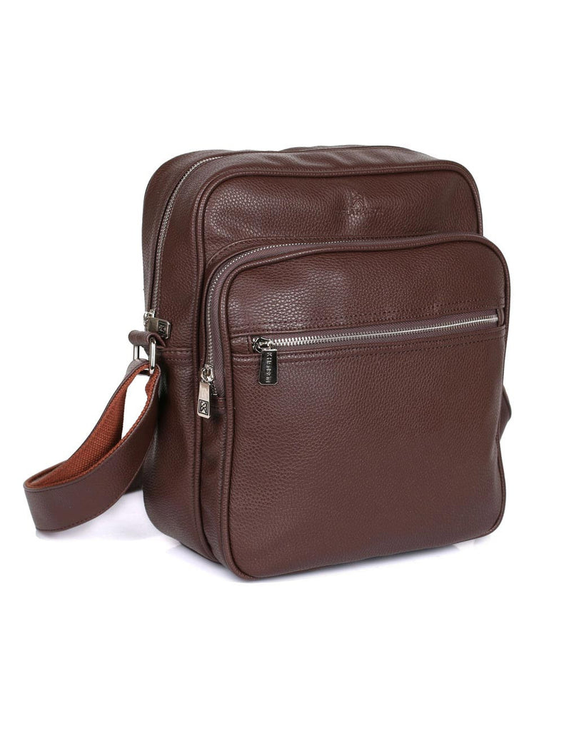 Men's Professional & Travel Crossbody Flight Bag Brown
