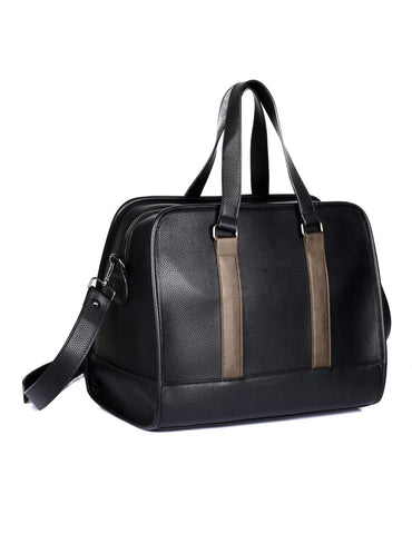 Men's Professional & Travel Duffel Bag Black Bronze Stripe