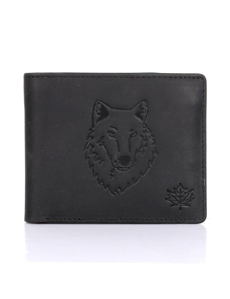 CANADA WILD Men's Hunter Leather Wallet Timber Wolf