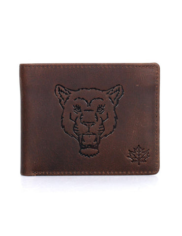 CANADA WILD Men's Hunter Leather Wallet Mountain Lion