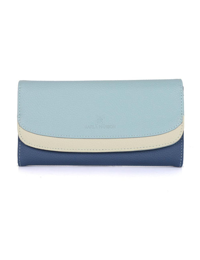 Gabrielle Women's Clutch Wallet Blue Tone