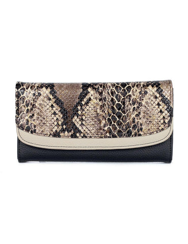 Gabrielle Women's Clutch Wallet Python