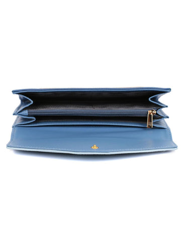 Gabrielle Women's Envelope Clutch Wallet Blue Tone