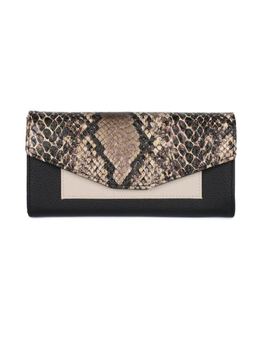 Gabrielle Women's Envelope Clutch Wallet Python