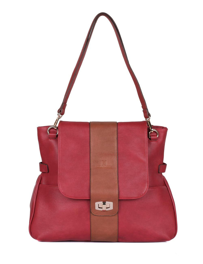 Isabella Women's Shoulder Bag Burnt Red
