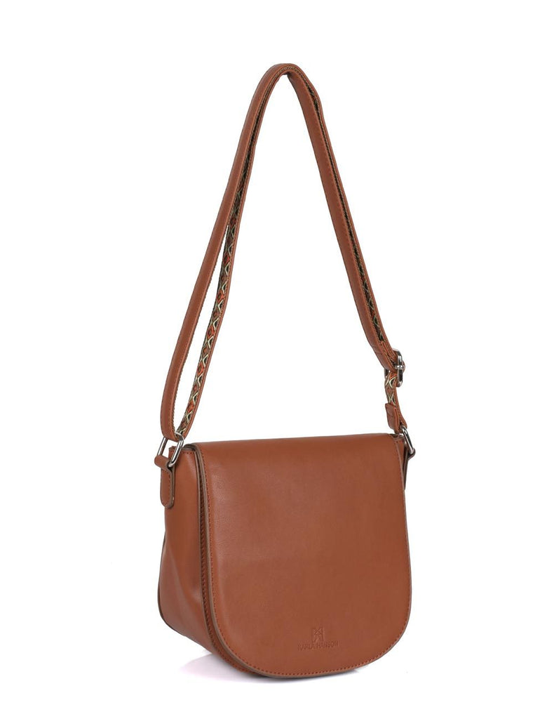 Isabella Women's Gypsy Crossbody Saddle Bag I Tan