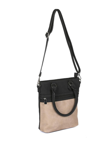 Ava Women's Laser Cut Crossbody Bag Beige