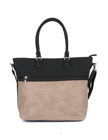 Ava Women's Laser Cut Tote Bag Beige