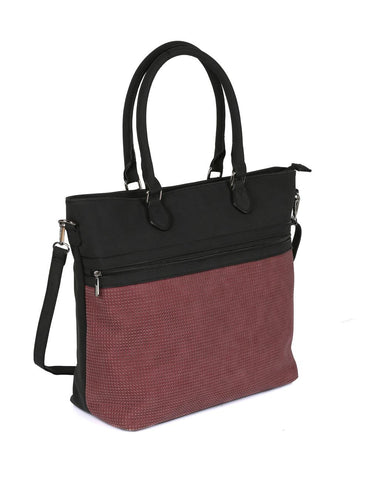 Ava Women's Laser Cut Tote Bag Burgundy