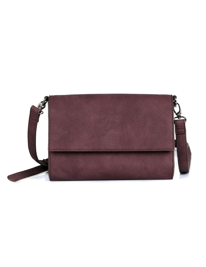 Madison Women's Compact Crossbody Bag Burgundy