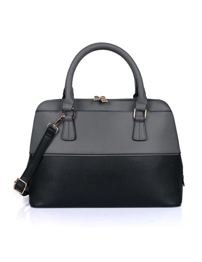 Riley Women's Satchel Bag Grey Black