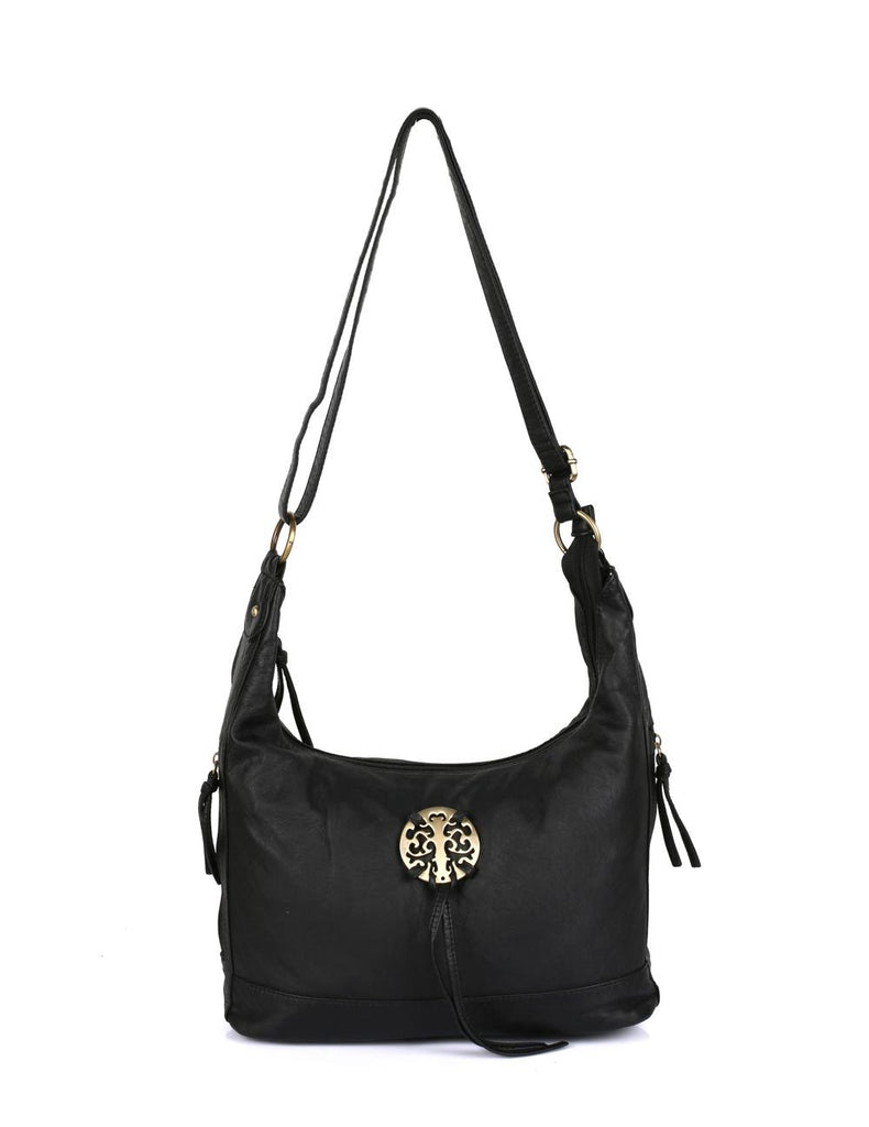 Avery Pre-Washed Women's Hobo Bag Black
