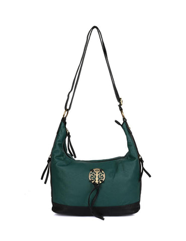 Avery Pre-Washed Women's Hobo Bag Forest Green