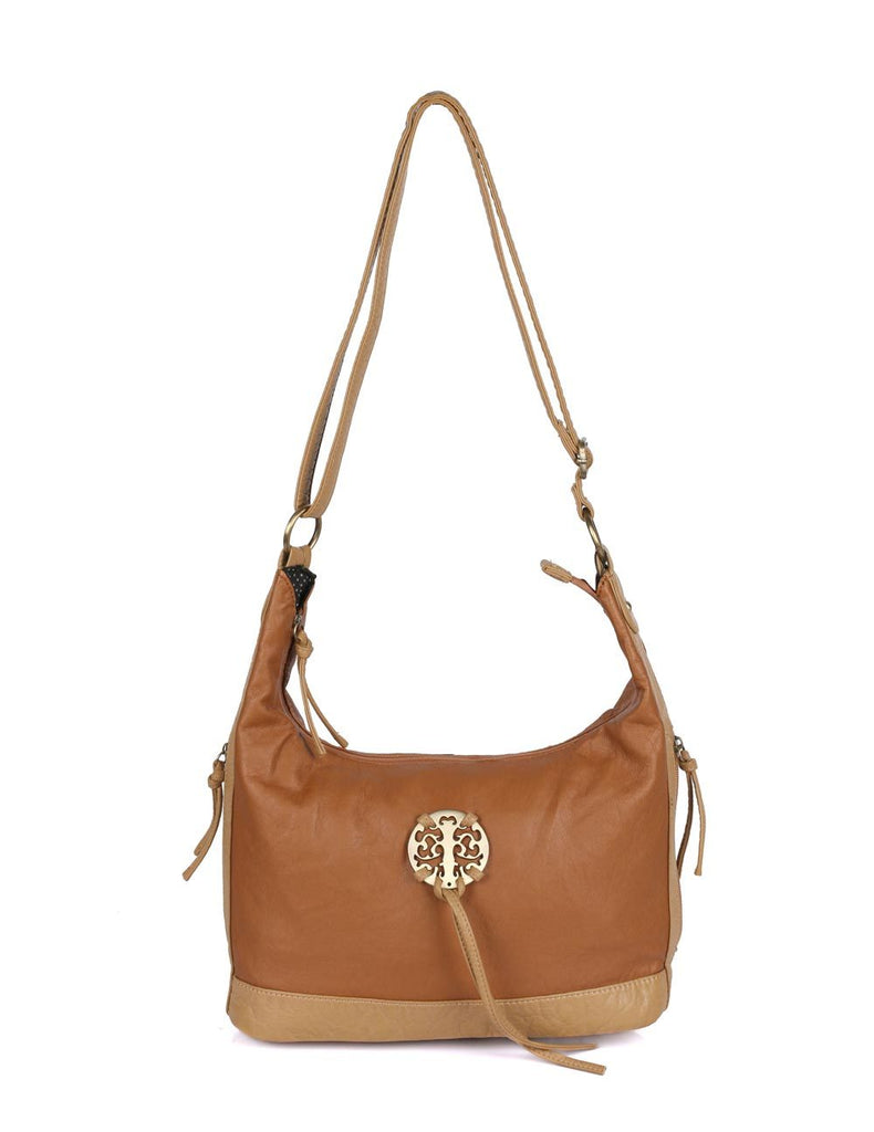 Avery Pre-Washed Women's Hobo Bag Tan