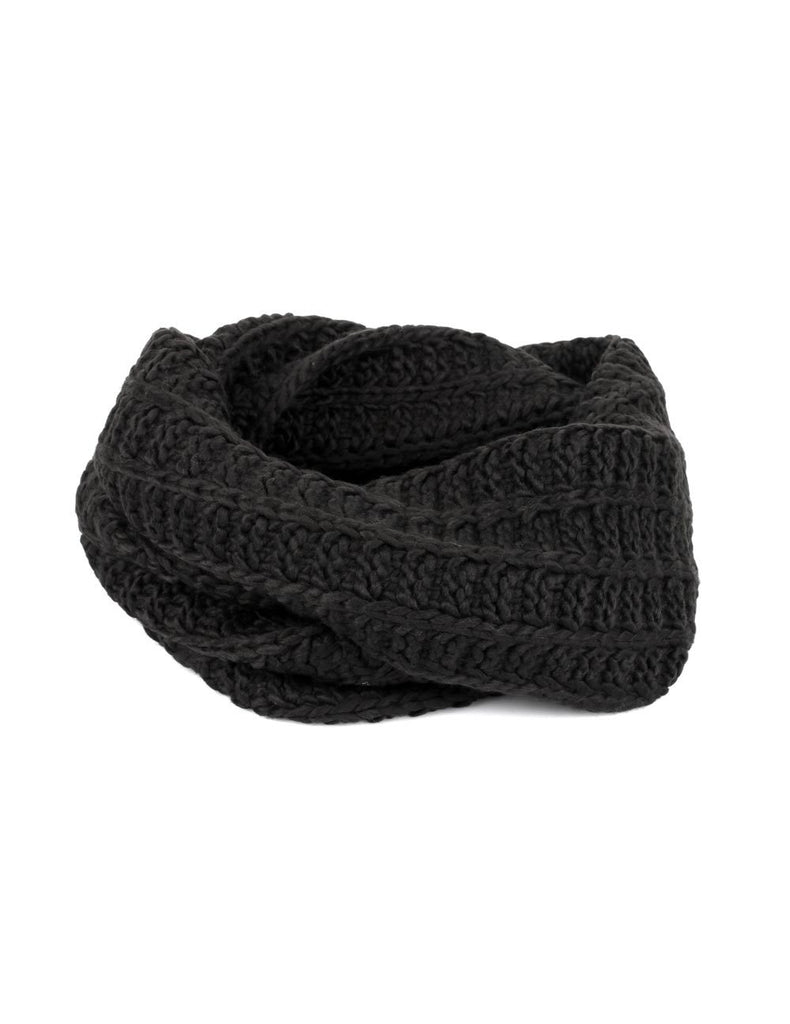 Women's Retro Knit Infinity Scarf Black