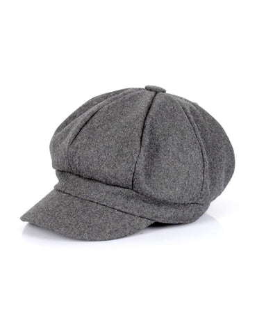 Women's Wool Cap Grey One Size