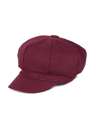 Women's Wool Cap Burgundy One Size