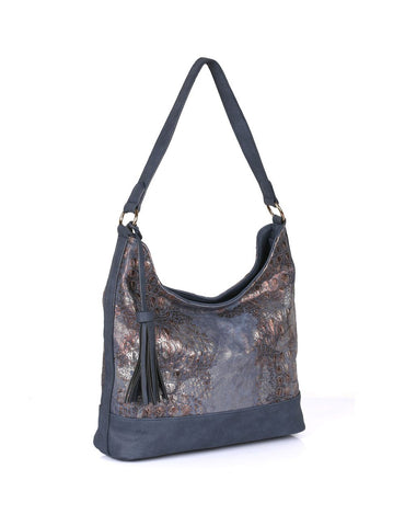 Eva Women's Hobo Bag Navy - karlahanson.com