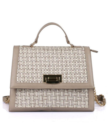 Elena Women's Satchel Bag Beige