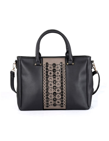 Harper Women's Stud-and-Eyelet Satchel Bag