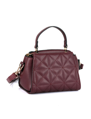 Florence Women's Quilted Crossbody Bag Wine