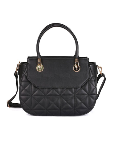 Florence Women's Quilted Satchel Bag Black