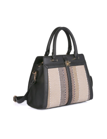 Sienna Women's Texture Satchel Bag Black