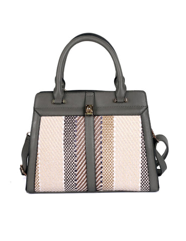 Sienna Women's Texture Satchel Bag Grey