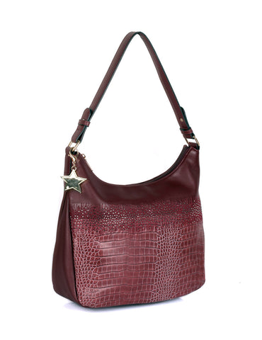 Phoebe Women's Hobo Bag Wine