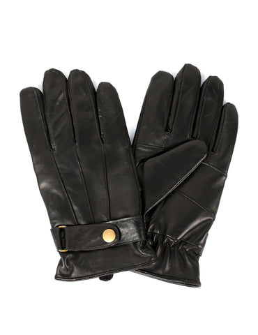 Men's Genuine Leather Touch Screen Gloves with Tab