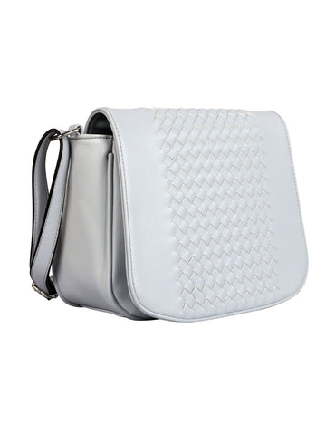 Tanya RFID Blocking Women's Crossbody Saddle Bag Grey