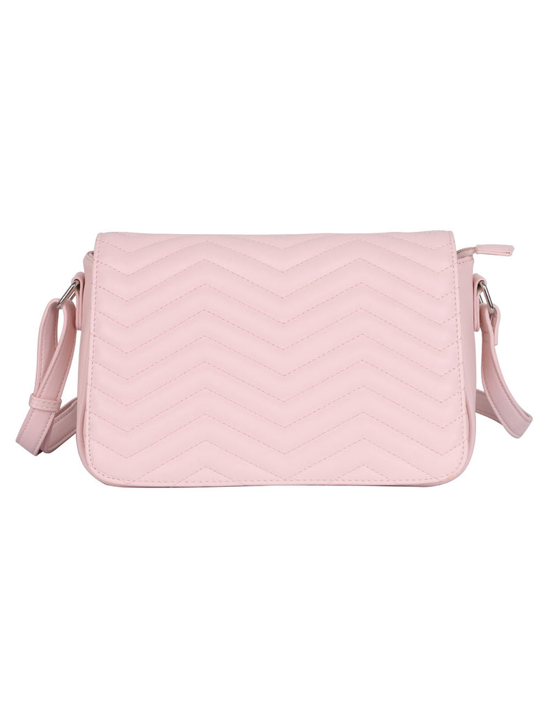 Sabrina RFID Blocking Women's Saddle Bag Pink