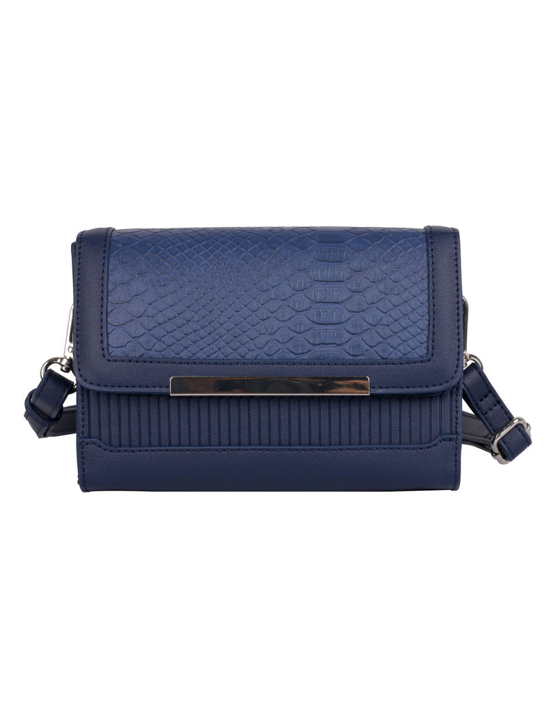 Rachel RFID Blocking Women's Crossbody Clutch Navy