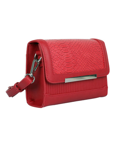 Rachel RFID Blocking Women's Crossbody Clutch Red