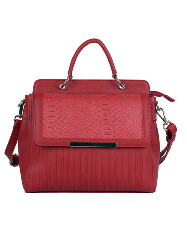 Rachel RFID Blocking Women's City Satchel Red