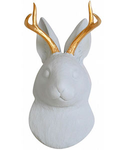 Jackalope Head Wall Mount