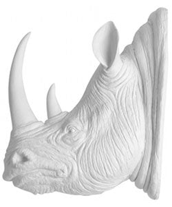 Faux Taxidermy Rhino Head Wall Decor