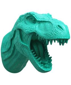 T rex & Triceratops Dinosaur Head Wall Decor